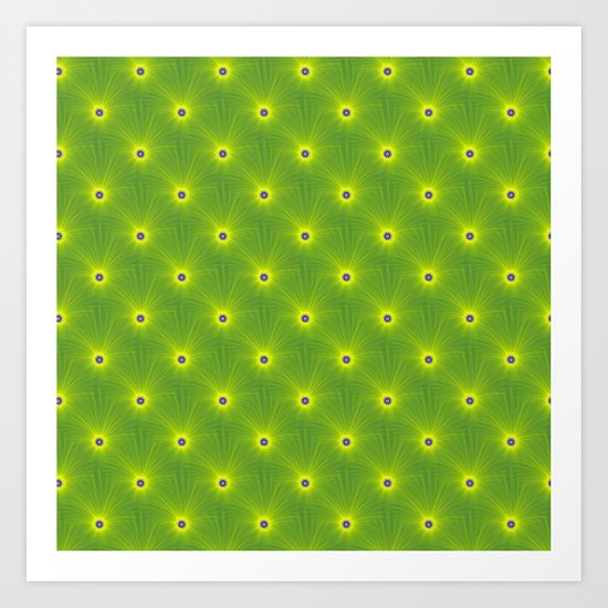 Yellow and Green Color Explosion Tiled Art Print