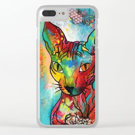 """Sphynx cat "" Clear iPhone Case"