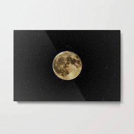 MOON - SKY - STARS - GALAXY - SPACE - PHOTOGRAPHY Metal Print