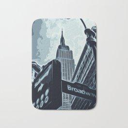 Streets of New York - Broadway view Bath Mat