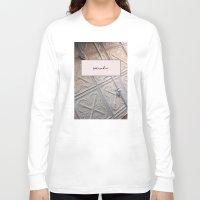 blush Long Sleeve T-shirts featuring Surrender Blush by Lovedart