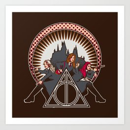 Dumbledore's Angels  Art Print