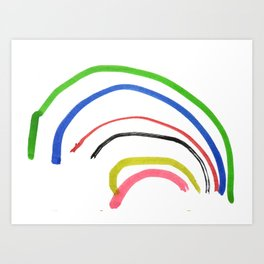 Rainbow sketch Art Print