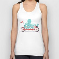 bike Tank Tops featuring My Red Bike by Jay Fleck