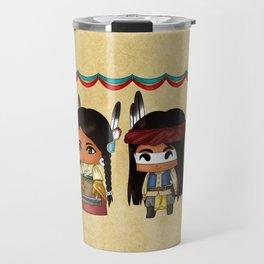 American Indian Chibis Travel Mug
