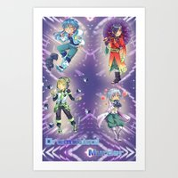 dramatical murder Art Prints featuring Dramatical Murder DMMD by SpigaRose