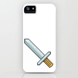 Retro Pixel : Sword iPhone Case