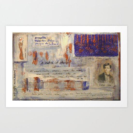 SAHARA BLUE Art Print