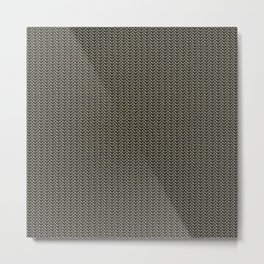 Faux Chainmail over Canvas Metal Print