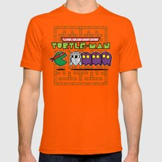 Hero in a Pac-Shell (Raph) Mens Fitted Tee Orange X-LARGE