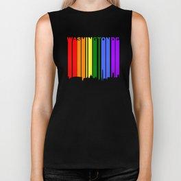 Washington DC Gay Pride Rainbow Cityscape Biker Tank