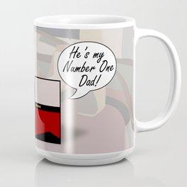 """Number One Dad"" Minimalist Star Trek TNG The Next Generation Picard startrek Fathers Day Father's  Coffee Mug"