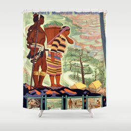 Vintage poster - Philippines Shower Curtain