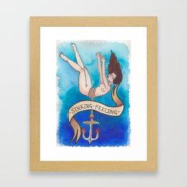 Sinking Feeling Framed Art Print