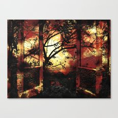 Enter the fertile garden of light and dispel the darkness of the night Canvas Print