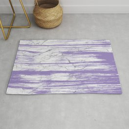 Modern abstract violet watercolor brushstrokes marble pattern Rug
