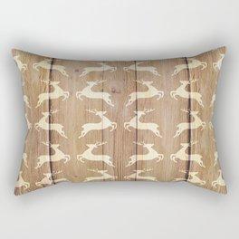 Christmas Pattern on Wood 02 Rectangular Pillow