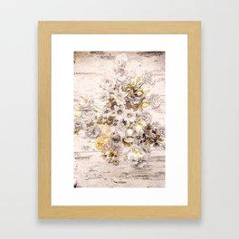 Golden brown texture like sun Framed Art Print