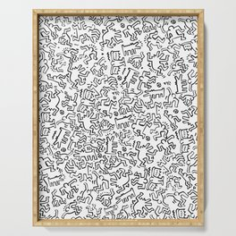 Figures Keith Haring White Serving Tray