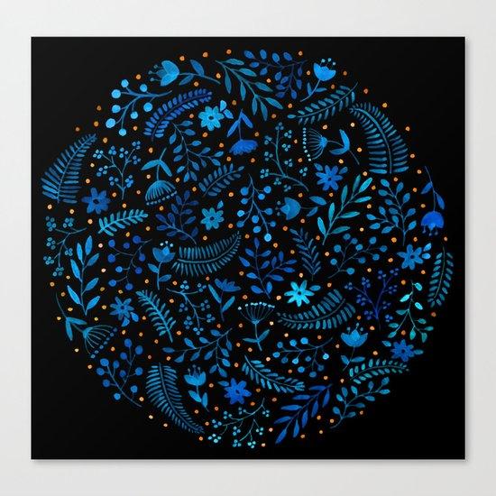 Night autumn pattern Canvas Print