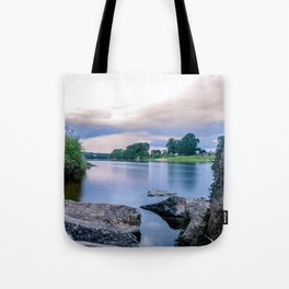 Long Exposure Photo of The River Tay in Perth Scotland Tote Bag