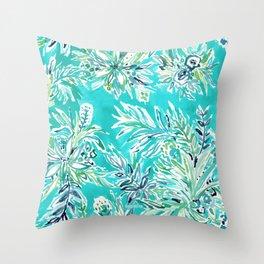 KAILUA CHILL Tropical Hawaiian Floral Throw Pillow