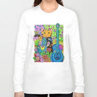 hippy Long Sleeve T-shirts featuring Hippy Puss by SwanniePhotoArt