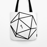 dungeons and dragons Tote Bags featuring Fumble - Dungeons & Dragons for Dummies by oneeye01