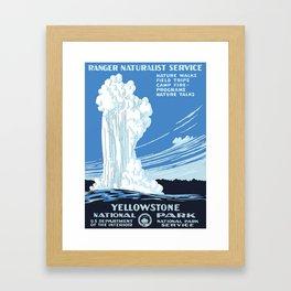 Yellowstone National Park Vintage Framed Art Print