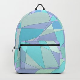 Shattered Purple & Green Backpack
