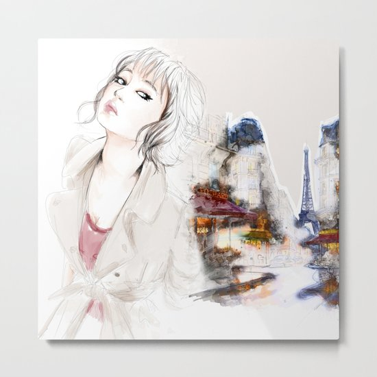 Paris Dreamember Metal Print