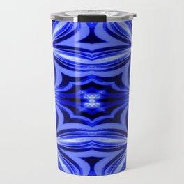 Electric Blue Pattern Travel Mug