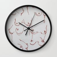 body Wall Clocks featuring Body by ottersunday