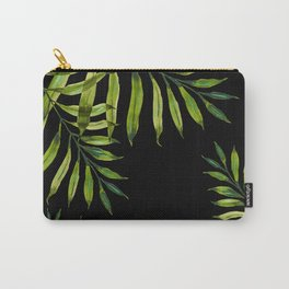 Tropical Night - Greenery On Black Carry-All Pouch