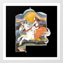 Moon Stallion Art Print