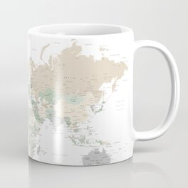 "World map with cities, ""Anouk"" Coffee Mug"