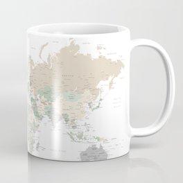 "World map with cities, ""Anouk"" Coffee Mug"