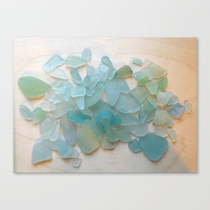 Ocean Hue Sea Glass Leinwanddruck