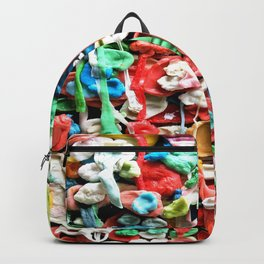 Gum Wall was once cleaned, then this happened. Backpack