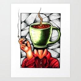 coffee head Art Print