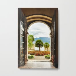 Mediterranean Garden, Malcesine, Lake Garda, Italy Metal Print
