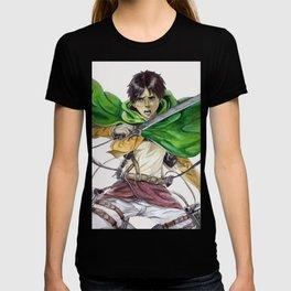 Eren Jaeger (white background) T-shirt