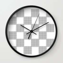 3D Line Drawing Cubes - Checkers Wall Clock