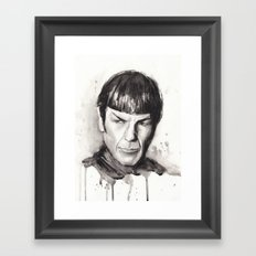 Spock Star Trek Framed Art Print