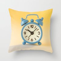 watch Throw Pillows featuring watch by laika in cosmos