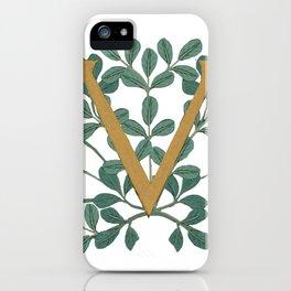 Forest Letter V Lite 2020 iPhone Case