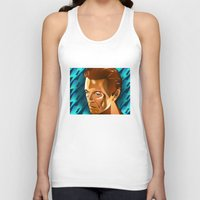 david bowie Tank Tops featuring Bowie  by Beth Gatza