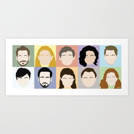 Once Upon A Cast Art Print