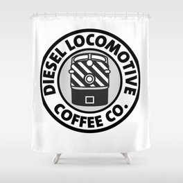 Diesel Locomotive Coffee Co. Shower Curtain