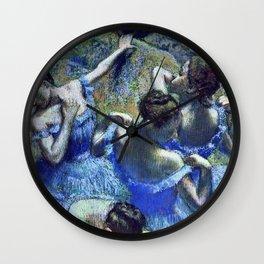 Edgar Degas - Blue Dancers Wall Clock